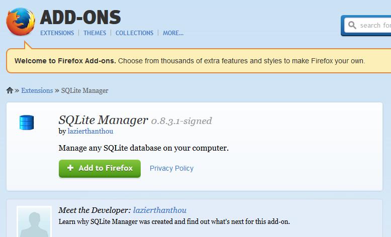 Add Firefox Addon