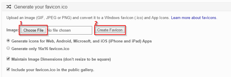 Advertise Me Favicon & App Icon Generator
