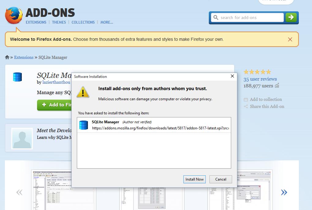 Firefox Addon Install Now