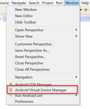 SDK Manager and Android Virtual Device