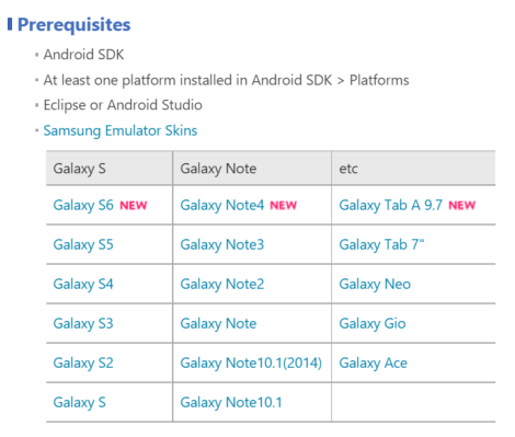 Samsung Skins Page