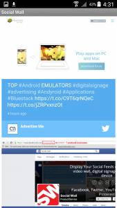 Social Wall Screenshop Mobile