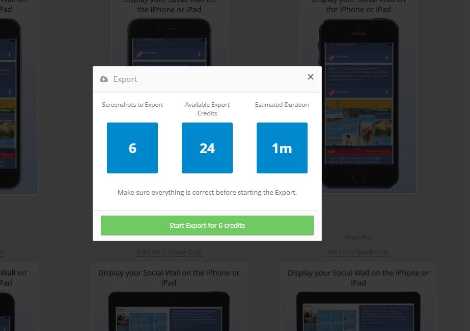 Social Wall Screenshots StoreShots Credits