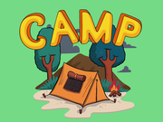 Camping & Hiking Sticker Logo