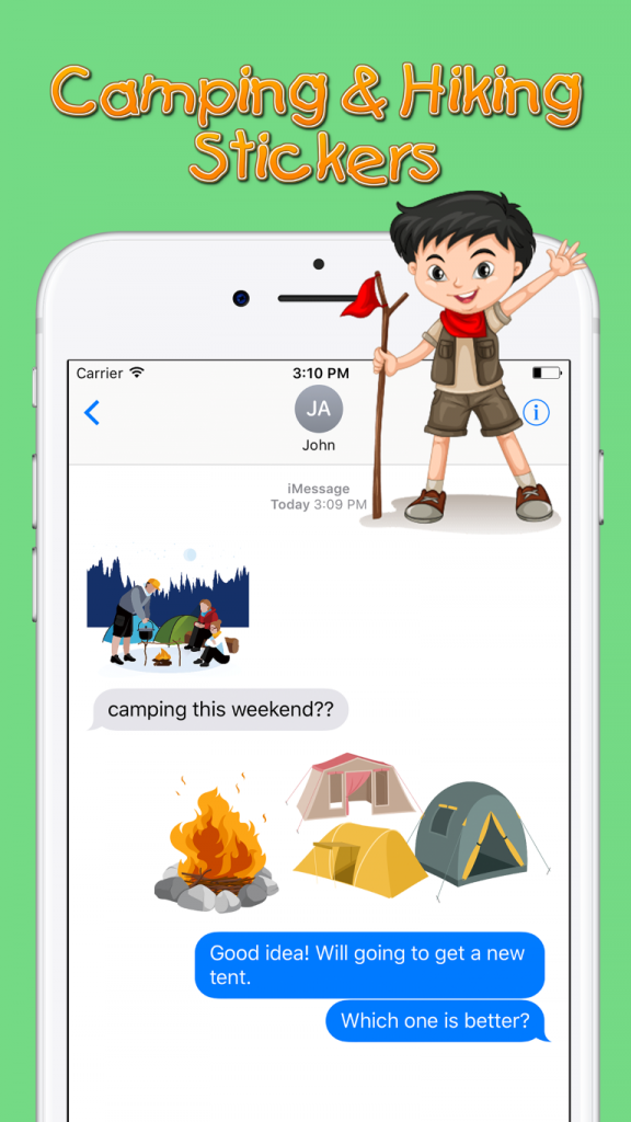 Camping & Hiking Sticker Screenshot 2
