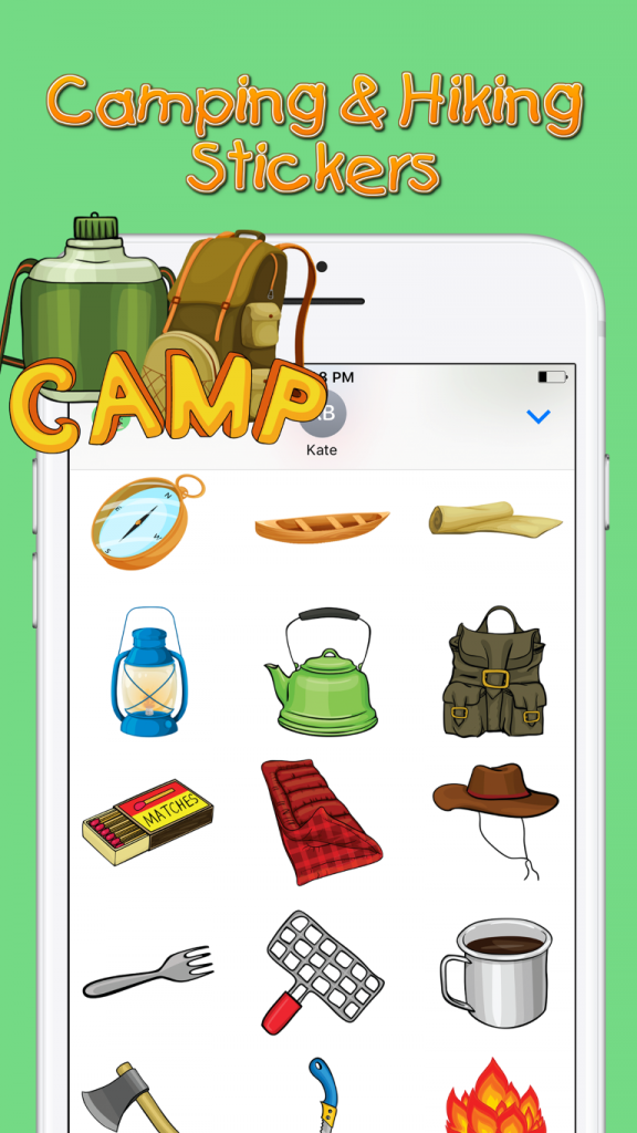 Camping & Hiking Sticker Screenshot 3