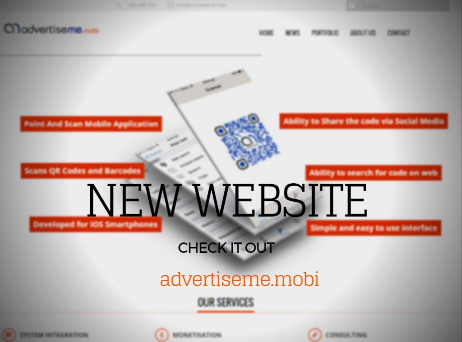 Advertise Me Mobi new website promo