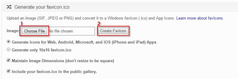 Advertise Me Favicon & App Icon Generator