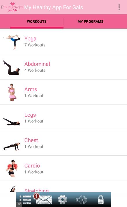 My Healthy App For Gals Screenshot 2