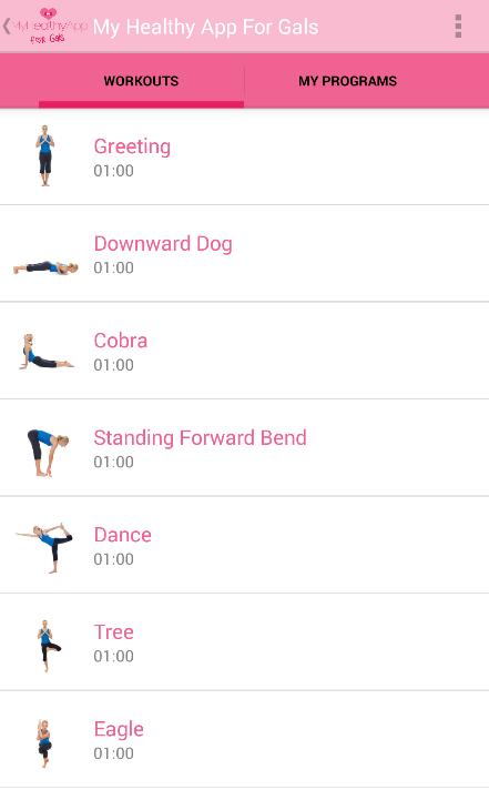 My Healthy App For Gals Screenshot 3