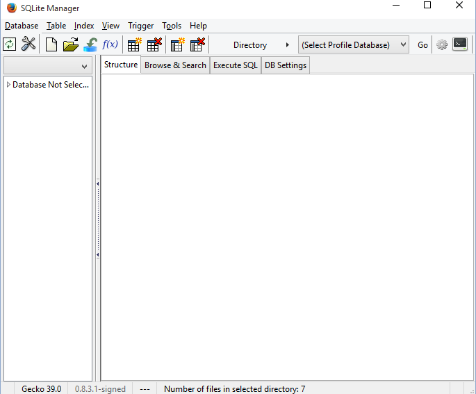 SQLite Manager Firefox Program