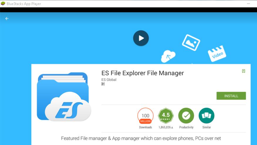 File Manger ES File Explorer