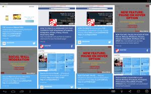 Social Wall Screenshot Tablet