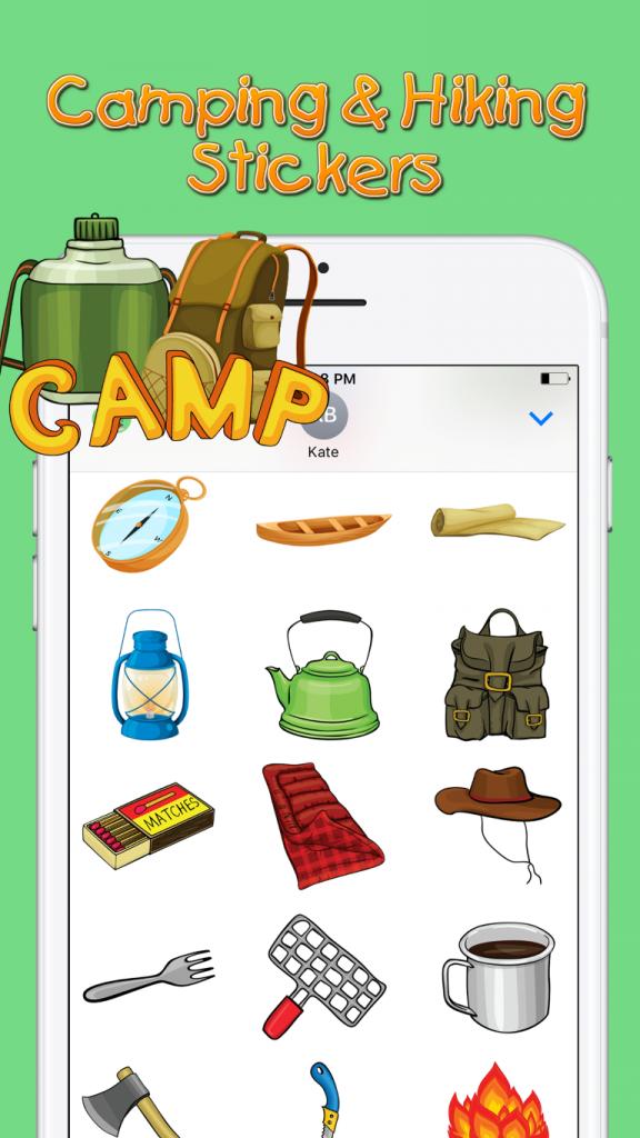Camping & Hiking Sticker Screenshot 3