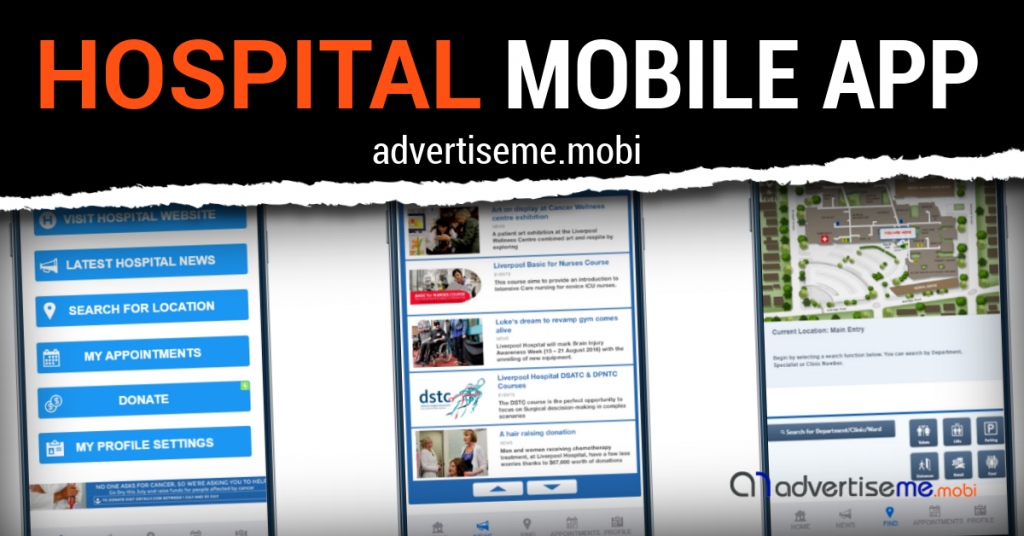 Advertise Me Mobi - Hospital Mobile App Header