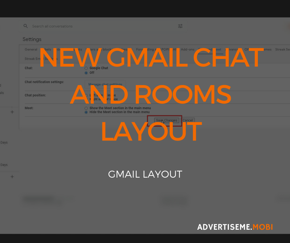 NEW GMAIL CHAT AND ROOMS LAYOUT header
